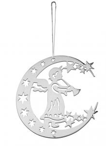 Decoro Angelo e Luna per Albero di Natale