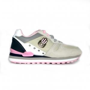 Sneaker grigio/rosa Kamsa