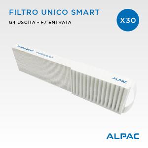 Filtro unico di ricambio Smart - CONF. PROMO x30 - per Alpac VMC Smart e Climapac VMC Inside Smart