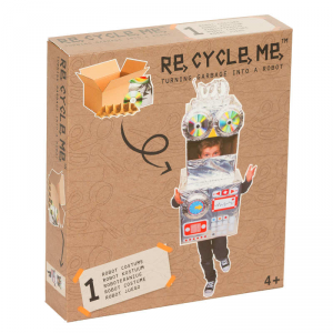 Costume da Robot Set Gioco Ecologico per Bambina Re-Cycle-Me