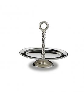 Alzata tonda stile Cardinale argentato argento sheffield cm.14x14x14h diam.15
