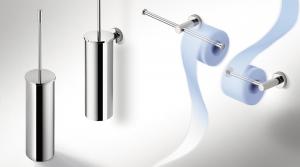 Porta rotolo doppio per il bagno serie Plus Colombo design