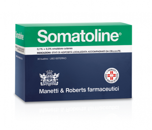 Somatoline emulsione cutanea 0,1% + 0,3% 30 bustine uso cutaneo
