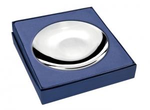 Piattino rotondo in silver plated cm.6h diam.18