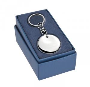 Portachiavi rondo twist silver plated cm.10x4,2x1h