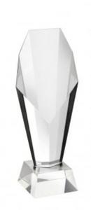 Trofeo coppa Atene olimpionica in vetro cristallo cm.18,6h