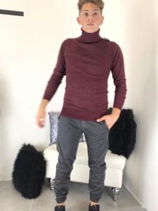 Pantalone uomo in cotone alasticizzato taglio classico tinta unita made in italyTG : 42,44,46,48,50,52