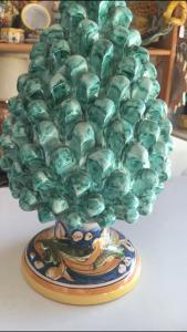 Pigna in ceramica di caltagirone h30