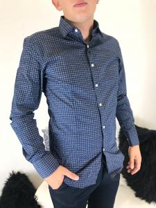 Camicia uomo slim fit elasticizzata in micro fantasia TG M/L/XL/XXL