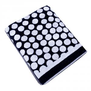 Telo da bagno in spugna 95x150 cm Carrara REIMS bianco e nero