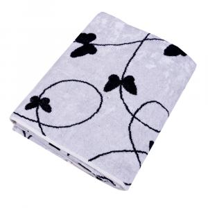 Telo da bagno in spugna 95x150 cm Carrara MELODY bianco farfalle