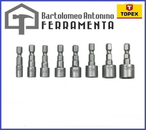 SET 8 BUSSOLE ATTACCO 1/4 - 5/13mm - TOPEX