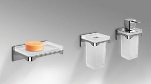 Dispenser dosa sapone da parete per il bagno serie Forever Colombo design