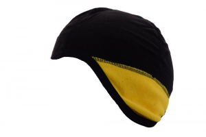 BRIKO Unisex Black Balaclava Covering Plush Yellow