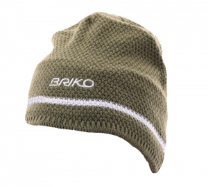 BRIKO Winter Green White Unisex Beanie Wool Plush Interior