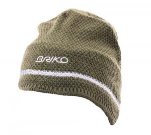 BRIKO Winter Green White Unisex Beanie Wool Plush Interior