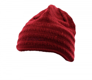 BRIKO Winter Unisex Red Hat  Domestic Wool Shag