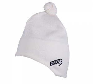 BRIKO Unisex White Winter Cap Lined Interior Wool