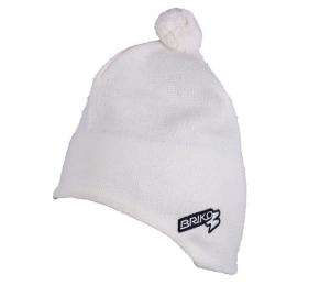 BRIKO Unisex White Winter Cap Lined Interior Wool