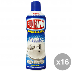 PULIRAPID Set 16 Anti-Limestone For Steel And Ceramic House Cleaners 500Ml