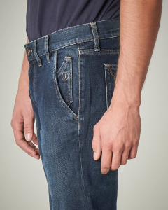 Jeans lavaggio scuro tasca america