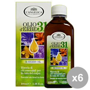 L'ANGELICA Set 6 Of 31 Herbes Oil Essential Oils Blend For Body Care 100Ml