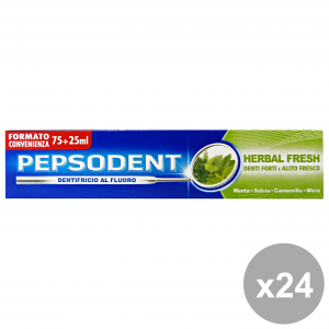 PEPSODENT Set 24 Toothpaste Herbal Fresh Strong Teeth And Fresh Breath Oral 75Ml