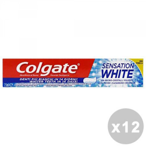 COLGATE Set 12 Toothpaste Sensation White With Micro-Cleasing Crystal 75Ml