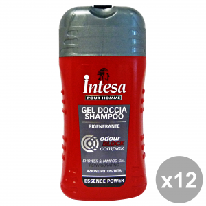 INTESA Set 12 Shower Shampoo Gel Reinvigorating Odour Block Complex Body 250Ml