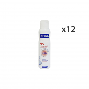 NIVEA Set 12 Deo Spray Dry Comfort 48H Unisex Body Care 150Ml
