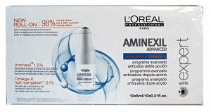 L'OREAL Box With 10 Hair Anti-Fall Vials Aminexil Fall Hair Care