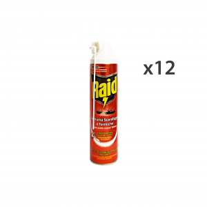 RAID Set 12 Ants/Cockroaches Foam Inseticides Products 400Ml