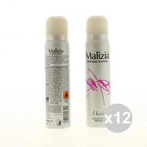MALIZIA Set 12 Woman Deodorant Spray Musk Profumo D'Intesa 100Ml