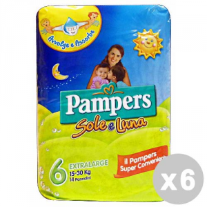 PAMPERS Set 6 Nappy Sun&Moon 15-30Kg*14Pieces Products For Baby