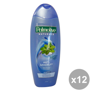 PALMOLIVE Set 12 Shampoo Anti-Dandruff Mint Frequent Use Hair Products 350Ml
