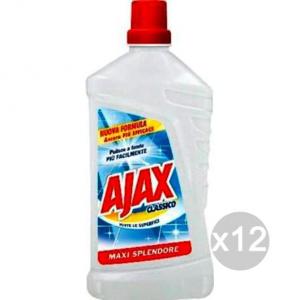 AJAX Set 12 Liquid Classic Floor Cleaner Maxi Brilliance For All Surfaces 1L