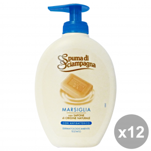 SPUMA DI SCIAMPAGNA Set 12 Marseille Liquid Soap Hands With Antibacteria 250Ml