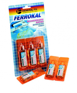 GENERAL FIX Ferrokal Pack Of 3 Vials Quick Decalcifying 20Ml For Steam Iron