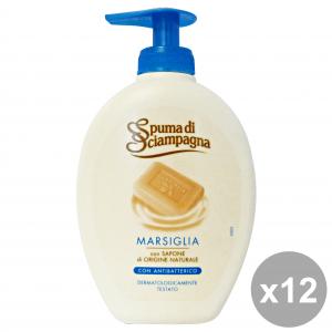 SPUMA DI SCIAMPAGNA Set 12 Marseille Liquid Soap Hands Antibacterial Hand Soap