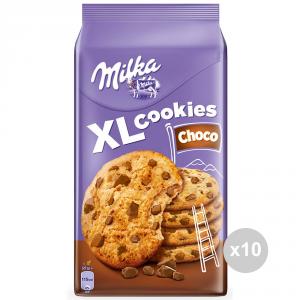 MILKA Set 10 Packs Of Cookies Xlcookies Choco Sweet Snacks 184G