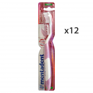 MENTADENT Set 12 Toothbrush Soft Sensitive Expert Oral Hygiene