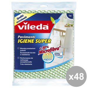 VILEDA Set 48 Floor Rags 1 Pieces Super Hygiene Extra Cleaning House Products