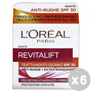 L'OREAL Set 6 Anti-Age Day Cream Extra-Firming Revitalift Face Cream Spf30 50Ml