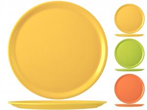 SATURNIA Set 6 Pizza Plates Porcelain Assorted Colors Cm31 Table Decor