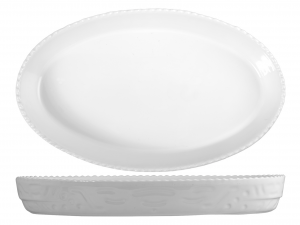 SATURNIA Oval Porcelain Cm42 Dishware