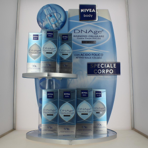 NIVEA Set 12 Dnage Display Body Cream With Folic Acid Light Blue 150Ml