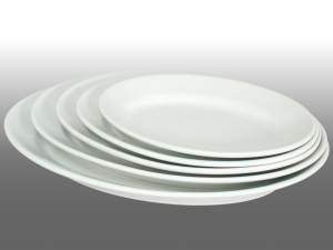 SATURNIA Oval tivoli porcelain plate cm 42 Table furniture