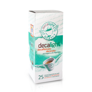 Set 4 DERSUT Decaffeinated Decaffeinated Coffee Pods (Decalight 25x4 = 100 Pods)