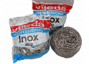 VILEDA Set 10 Cleaning Scourer Stainless Steel 18/10 Grey 60Gr