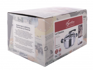 LAGOSTINA Pot Pressure Cooker The Classic 3.5 liter basket Made in Italy
